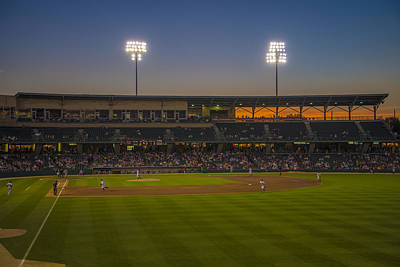 Indianapolis Indians Victory Field Sunset 4694 Print by David Haskett