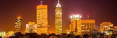 Indiana Photograph - Indianapolis Skyline Panorama Picture  by Paul Velgos