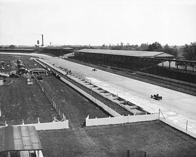 Indiana Photograph - Indianapolis Speedway Trials by Underwood Archives