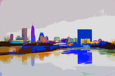 Indianapolis Indiana Winter Paint Print by David Haskett