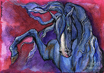 Indigo Horse 1 Original by Angel  Tarantella