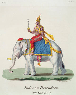 Indra Or Devendra, From Linde Print by French School