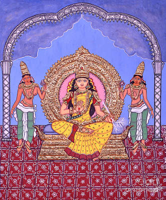 Tanjore Painting - Indraakshi by Pratyasha Nithin