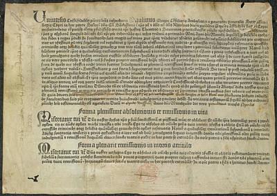 Indulgence Print by British Library