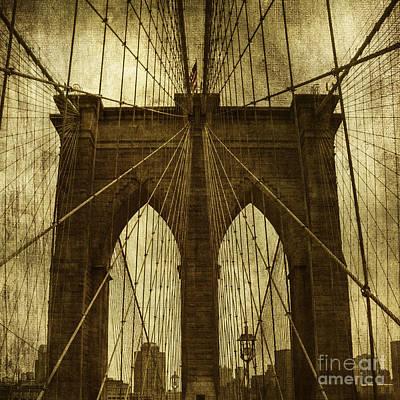 Brooklyn Bridge Digital Art - Industrial Spiders by Andrew Paranavitana