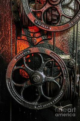 Industrial Wheels Print by Carlos Caetano