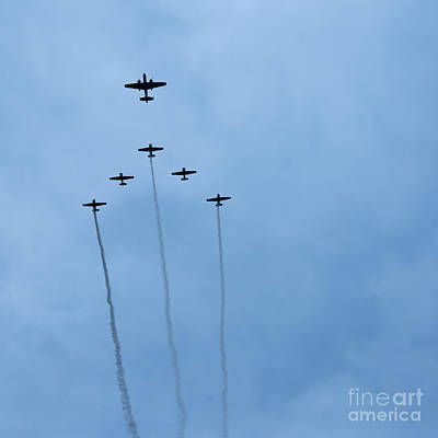 Indy 500 2013 Flyover Print by David Haskett