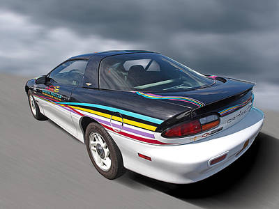 Indy 500 Pace Car 1993 - Camaro Z28 Print by Gill Billington