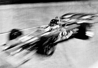 Indiana Photograph - Indy 500 Race Car Blur by Underwood Archives