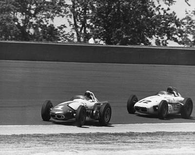 Indy 500 Race Cars Print by Underwood Archives