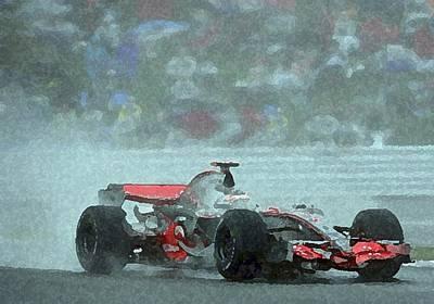 Indy Car 1 Print by Dennis Buckman