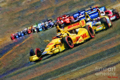 Indy Car's Ryan Hunter-reay Print by Blake Richards