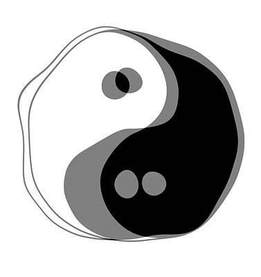 Inebriated Yin Yang Print by Daniel Hagerman