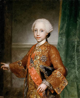 Anton Raphael Mengs Painting - Infante Francisco Javier Of Spain by Anton Raphael Mengs