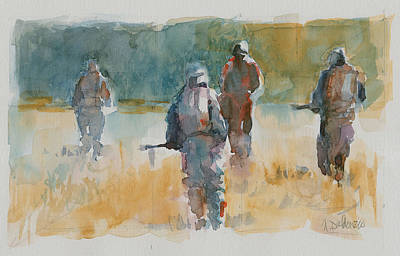 July Painting - Infantry 6a by Nicola Dalbenzio