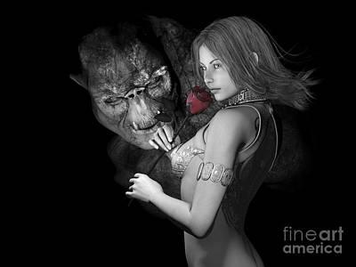 Kissable Digital Art - Infatuated  Roses by Alexander Butler