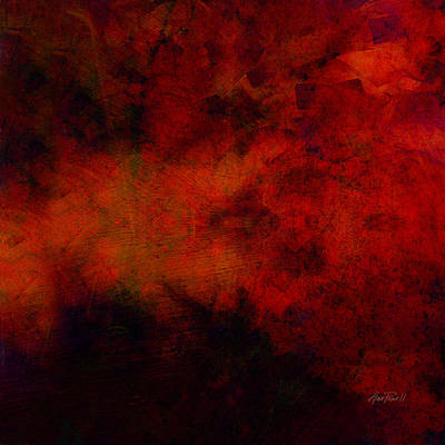 Inferno - Abstract - Art  Print by Ann Powell