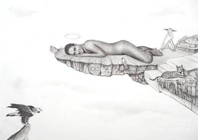 Male Nude Drawing Drawing - Infinite by Stefano Campitelli