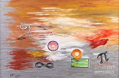 Pi Painting - Infinity by Loredana Messina