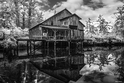 Infrared Fish Dock Print by Paul Haist