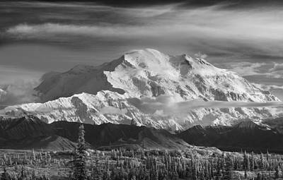 Infrared Image Of Mt. Mckinleys North Print by John Delapp