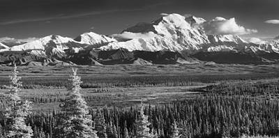 Infrared Panorama Of Denali And The Print by John Delapp