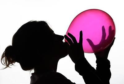 Euphoria Photograph - Inhaling Nitrous Oxide From A Balloon by Cordelia Molloy