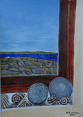Spiddal Painting - Inis Meain 10 Cottage Window by Roland LaVallee