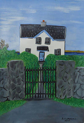 Spiddal Painting - Inis Meain 15 House by Roland LaVallee