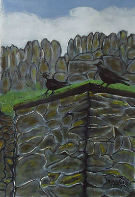 Spiddal Painting - Inis Meain 2 Jackdaw by Roland LaVallee
