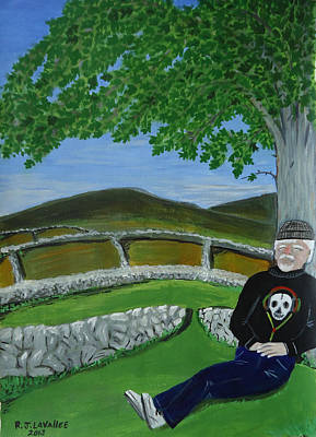 Spiddal Painting - Inis Meain 23 Under The Fairy Tree by Roland LaVallee