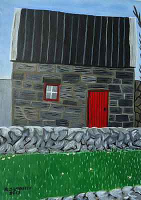 Spiddal Painting - Inis Meain 27 by Roland LaVallee
