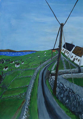 Spiddal Painting - Inis Meain 6  by Roland LaVallee
