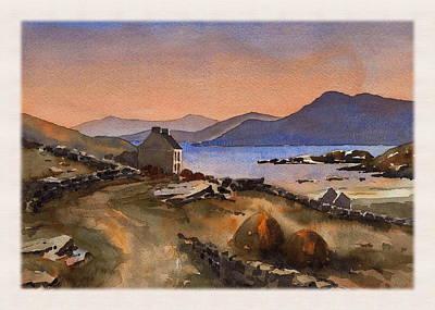 Inisbofin Sunset Print by Val Byrne