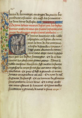 Raising Painting - Initial E Saint Anthony Raising Three Men Killed By Lions by Litz Collection