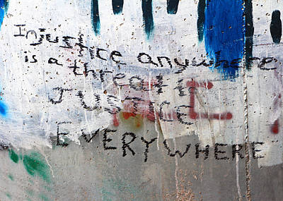 Injustice Print by Munir Alawi