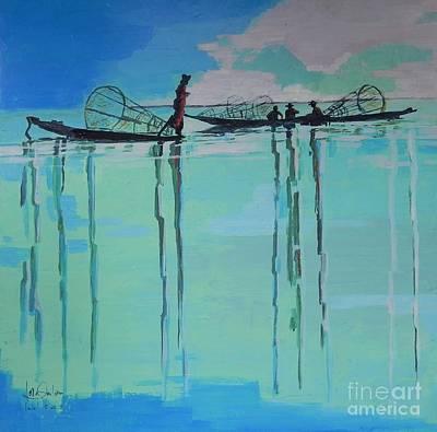Inle Lake By Jolanta Shiloni  Original by Jolanta Shiloni