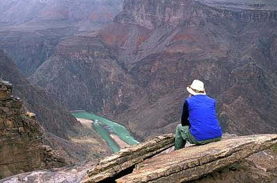 Contemplating Photograph - Inner Canyon And River by Jim West
