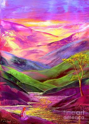Violet Painting - Inner Flame, Meditation by Jane Small
