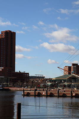 Inner Harbor At Baltimore Md - 12127 Print by DC Photographer