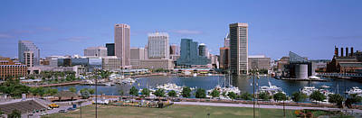 Inner Harbor Skyline Baltimore Md Usa Print by Panoramic Images