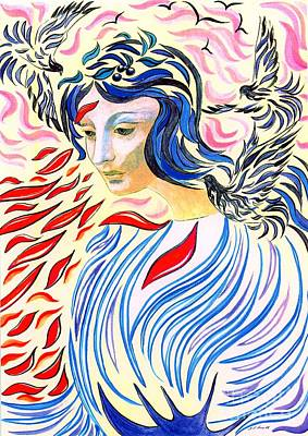 Goddess Painting - Inner Peace by Jane Small