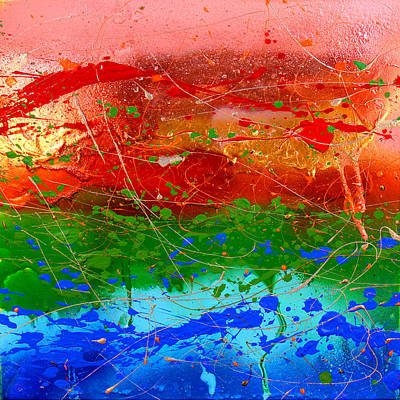 Texture Painting - Inner Sense by Julia Apostolova