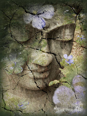 Aged Mixed Media - Inner Tranquility by Christopher Beikmann
