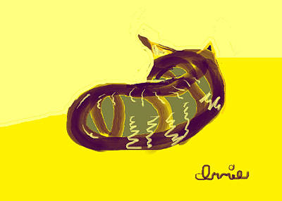 Abstract Digital Drawing - Innie by Anita Dale Livaditis