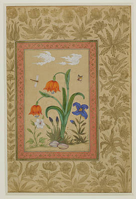 Khan Photograph - Insects Alight On Flowers by British Library