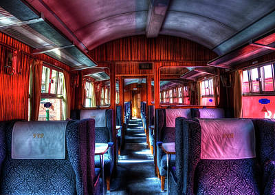 Inside An Old Train Print by Svetlana Sewell