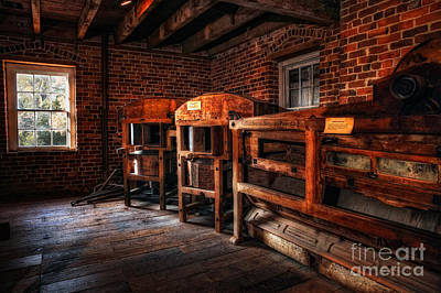 Grist Mill Photograph - Inside Kerr Mill I - North Carolina by Dan Carmichael
