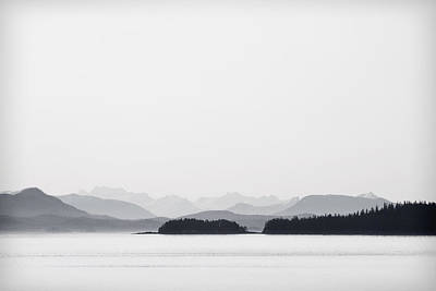Inside Passage Alaska Print by Carol Leigh