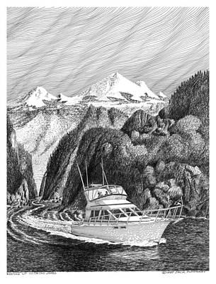 40 Foot Tollycraft Cruising The Inside Passage To Alaska Original by Jack Pumphrey